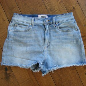 PINK Victoria Secret Frayed High Waist Jean Shorts